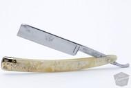 "5/8"" Dubl Duck Pearlduck Goldedge Straight Razor w/ Original Gold Inlay Celluloid Scales | Solingen, Germany"