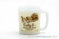 1950's Tally Ho  Vintage Milk Glass Horse Drawn Carriage Shave Mug