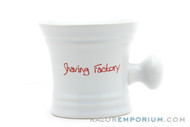 Barbershop Shaving Mug Shave Factory | White