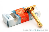 Merkur 34G HD 14K Gold Plated DE Safety Razor