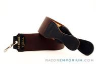 Genuine Shell Brown Straight Razor Strop & Canvas