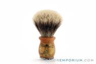 Artisan Badger Shave Brush Texas Half Dollar