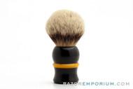 Artisan Badger Black & Canary Shave Brush - 30mm