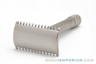 1913 Gillette Single Ring DE Safety Razor | Factory Nickel Revamp