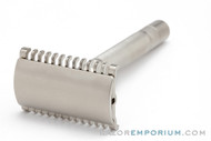 1930's Gillette NEW Long Comb Thin Common Bar Handle Razor | Nickel Revamp