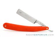 "5/8"" Bengall Shave Ready Straight Razor Custom G10 Orange Scales"