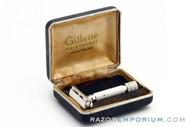 1953 Gillette British Aristocrat No. 66 Safety Razor in Case