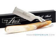 "6/8"" Ralf Aust Natural Horn Scale Straight Razor - Shave Ready"