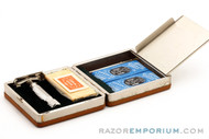 1948 Gillette Executive DE Safety Razor in Ostrich Leather Case