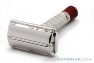 1955 Gillette Red Tip Heavy Double Edge Super Speed Double Edge Safety Razor A4 Rhodium
