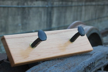 Rail spike Coat Rack (2 spikes)