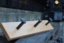 Rail Spike Coat Rack (3 spikes)
