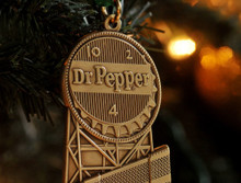 Dr. Pepper Brass Ornament