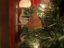 H&C Coffee Brass Ornament