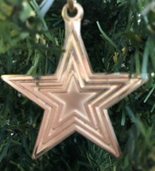 Roanoke Star Brass Ornament
