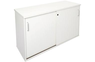 1200mm wide credenza - white