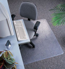 Marbig 87225 Dura Mat Chair Mat Large 1140Mm X 1340Mm Keyhole Shape