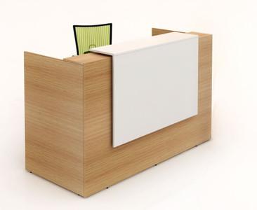 Albert Reception Counter - Beech & White