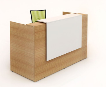 Albert Reception Counter - Beech & White