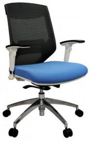 Vogue Mesh Back Office Chair with White Frame