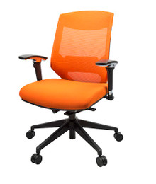 Vogue Mesh Back Office Chair  - Orange