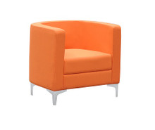 Miko Single Seater Tub Reception Chair - Orange
