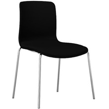 Dal Acti Chrome 4 Leg Chair Black