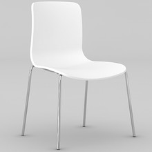Dal Acti Chrome 4 Leg Chair White