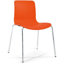 Dal Acti Chrome 4 Leg Chair Orange