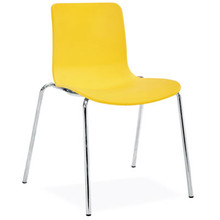 Dal Acti Chrome 4 Leg Chair Yellow