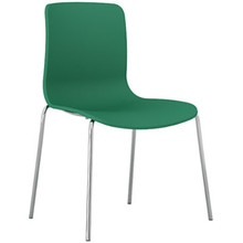 Dal Acti Chrome 4 Leg Chair Teal