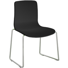 Dal Acti Chrome Sled Base Chair Black