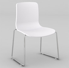 Dal Acti Chrome Sled Base Chair White