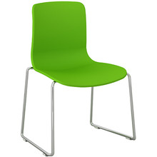Dal Acti Chrome Sled Base Chair Lime Green