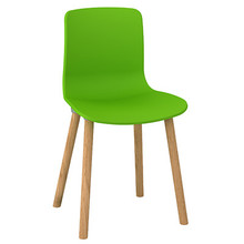 Dal Acti Wooden 4 Leg Chair Green
