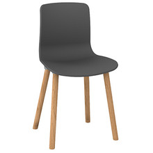 Dal Acti Wooden 4 Leg Chair Charcoal