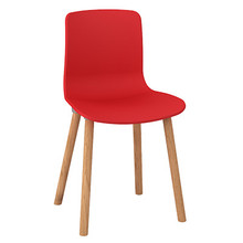 Dal Acti Wooden 4 Leg Chair Red