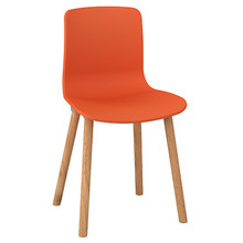 Dal Acti Wooden 4 Leg Chair Orange