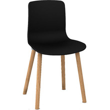 Dal Acti Wooden 4 Leg Chair Black