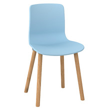 Dal Acti Wooden 4 Leg Chair Pale Blue