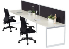 Rapid Infinity Single Sided Workstation with Screen - Loop Leg