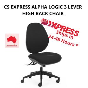 CS Express Alpha Logic 3 Lever High Back Chair