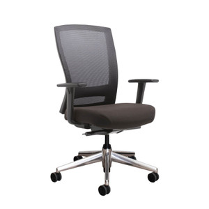 Buro Mentor with Chrome Base and Adjustable Arms