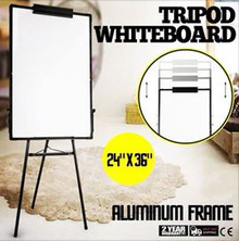 WHITEBOARD AND FLIPCHART EASEL STAND - OVER 50% OFF