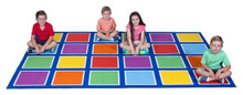 Elizabeth Richards Colour Squares Placement Rug