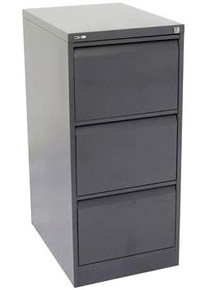Go Steel 3 Drawer Filing Cabinet & Suspension File Bundle