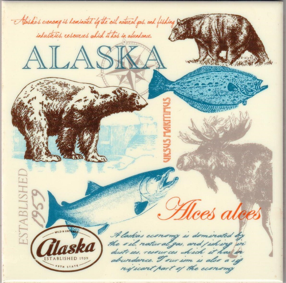 Alaska Wild And Untamed Ceramic Trivet Alaska Wild Country