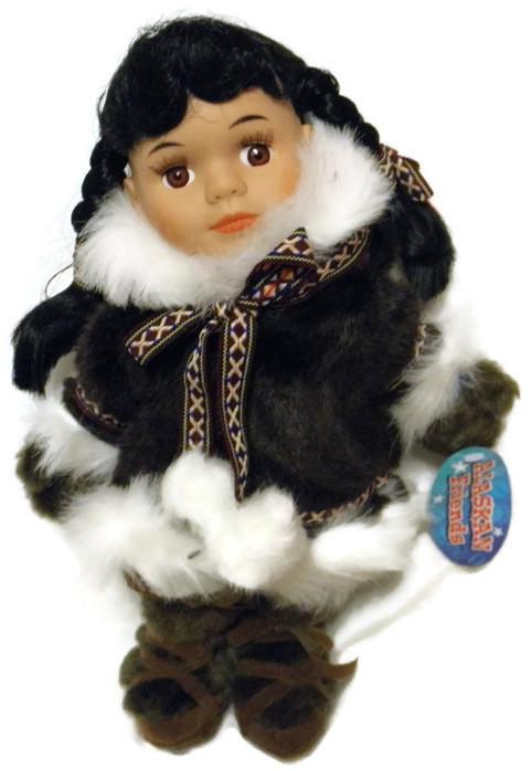 Alaskan Friends Traditional Alaskan Eskimo Doll With Dark