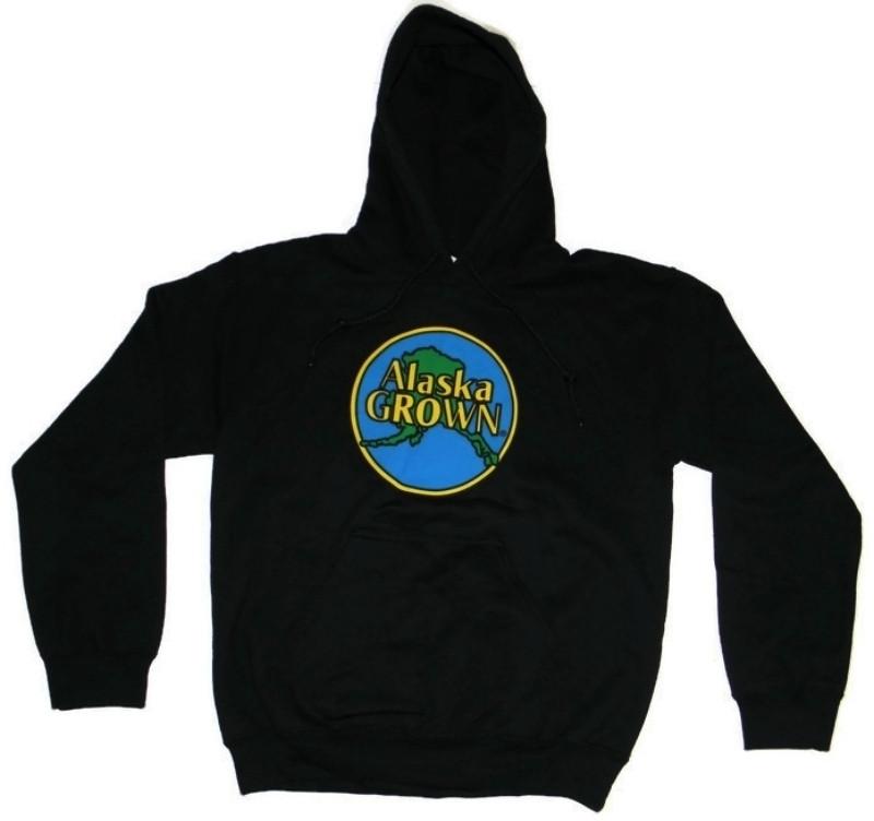 Alaska Grown Hoodie Sweatshirt Black Adult Alaska Wild