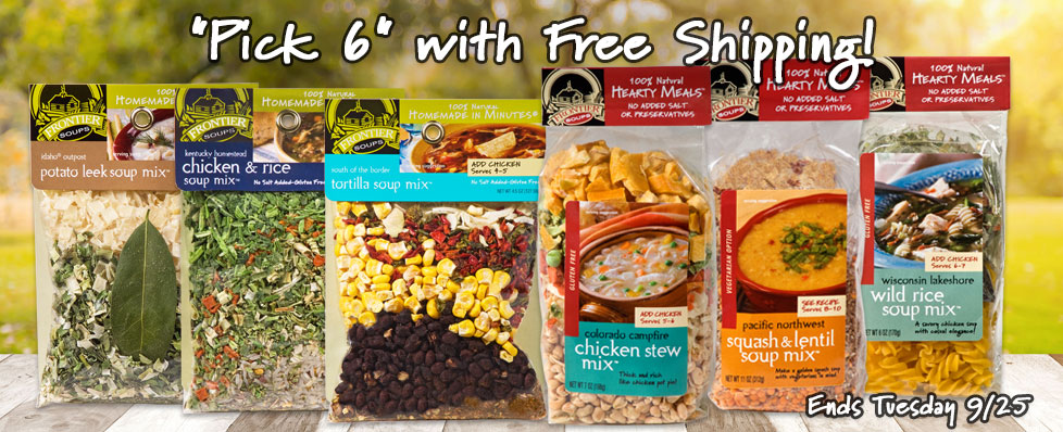 Choose Any 6 Varieties from Our Pick 6 Deal and Get Free Shipping!